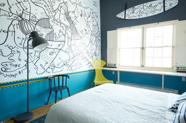 Schlafzimmer design mit wandfarbe dunkelgrau und blau schlafzimmer einrichten mit - Hellrosa wandfarbe ...