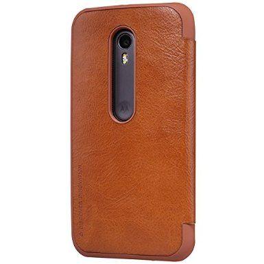 new concept 0d525 6bc9d Nillkin Qin Series Elegant Royal Leather Bumper Flip Case Cover Case ...