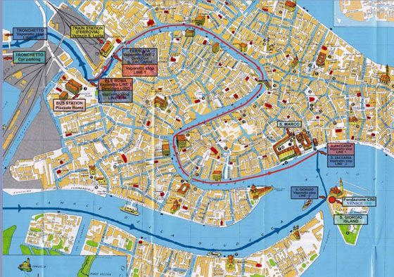 Selective image pertaining to printable map of venice