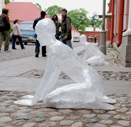 Shows how to make packing tape sculptures but oh the ideas for ...