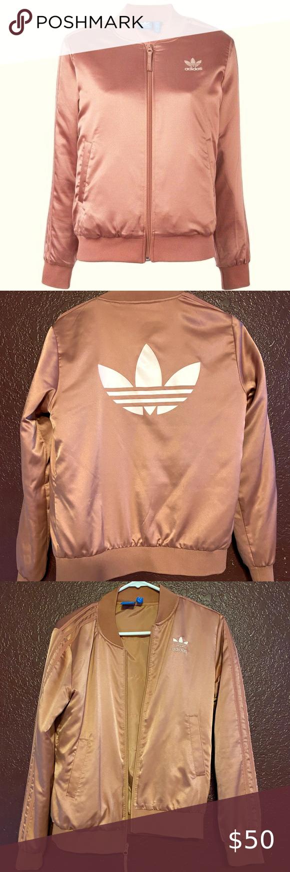 Adidas Originals Trefoil Satin Jacket Adidas Origi