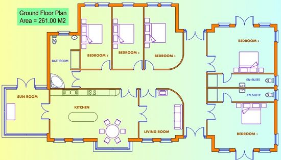 4 Bed Small House Plan Google Search Interior Inspiration