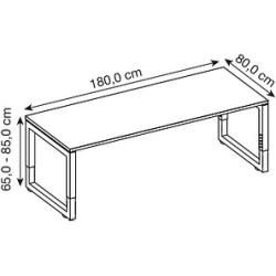 Photo of Hammerbacher Rs19 height-adjustable desk white rectangular Hammerbacher