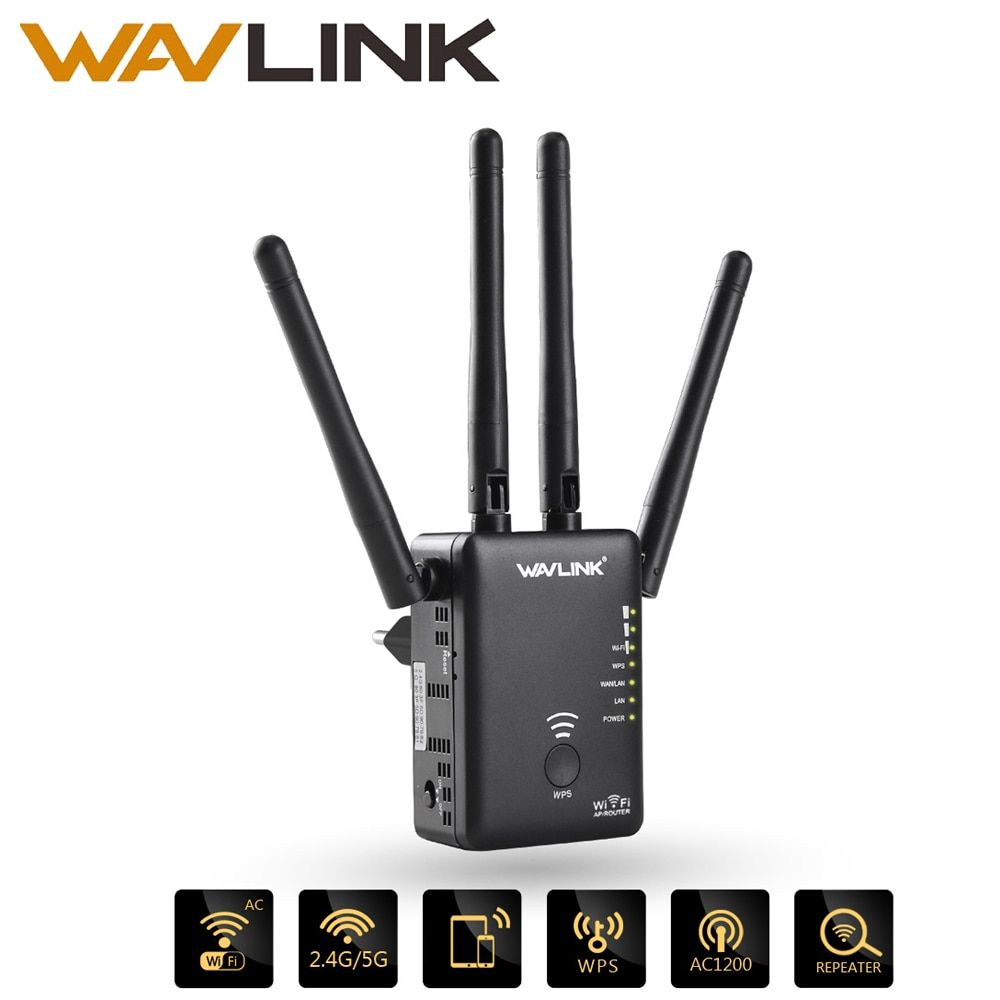 Wavlink Ac1200 Wifi Repeater Router Access Point Wireless Wi Fi Range Extender Wifi Signal Amplifier With External Antennas Hot Wifi Signal Wifi Booster Wireless Router