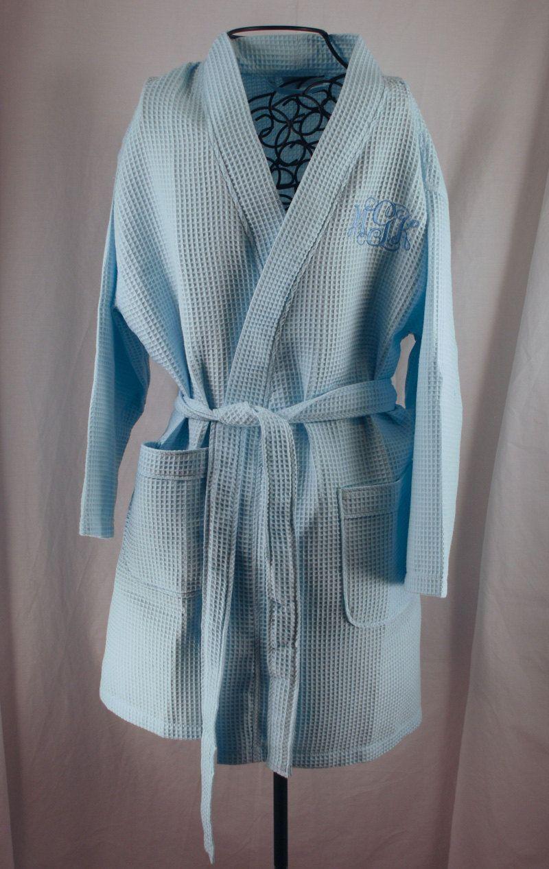 Waffle Weave Robes Bridesmaid Gift Kimono Robes Personalized Bridesmaid Robes Bridal Party Robe Waffle Robes for Bridesmaids Monogram Robes