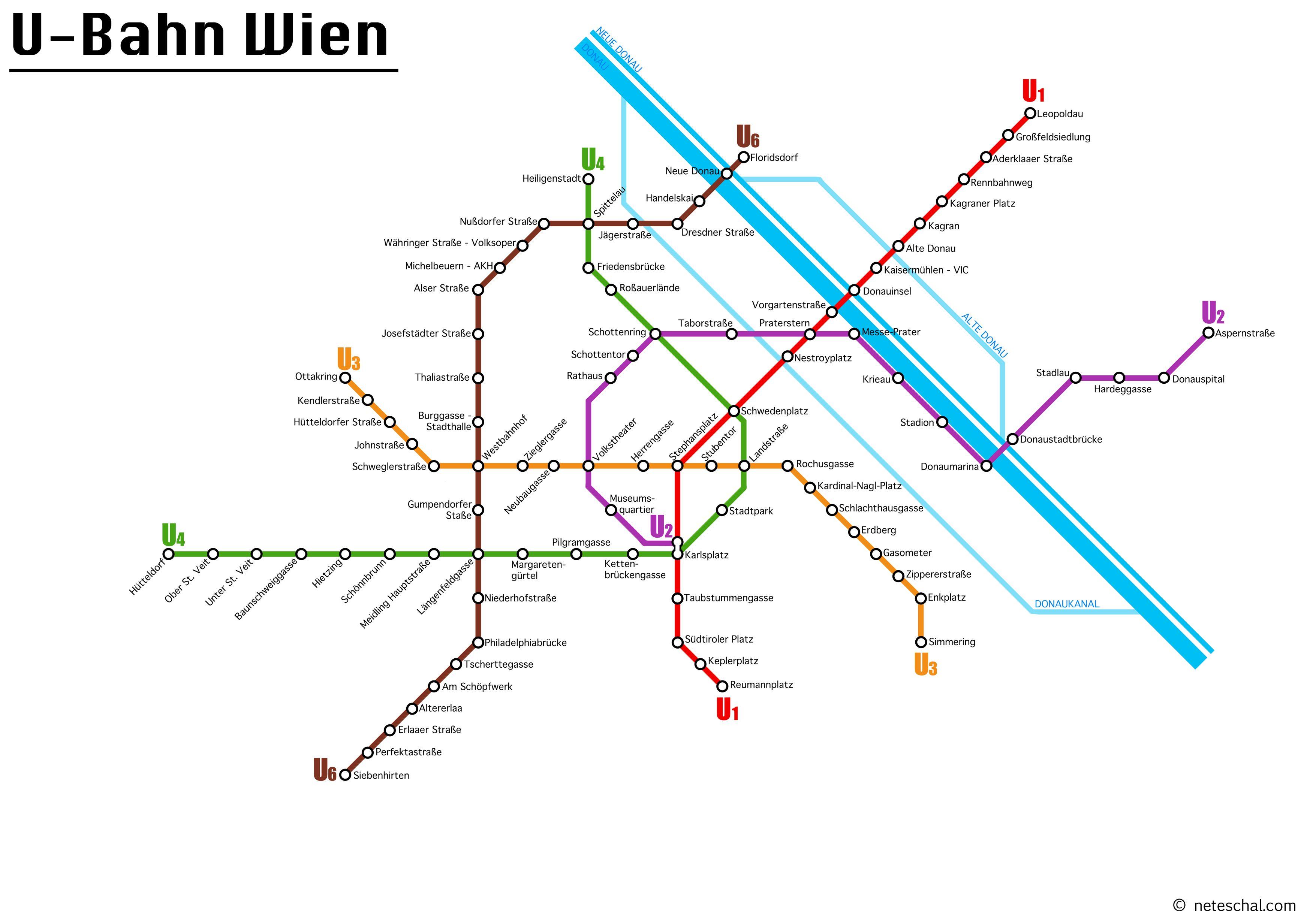 Subway Map Vienna Austria.Vienna S Subway Map Osterreich Subway Map Vienna Austria Vienna