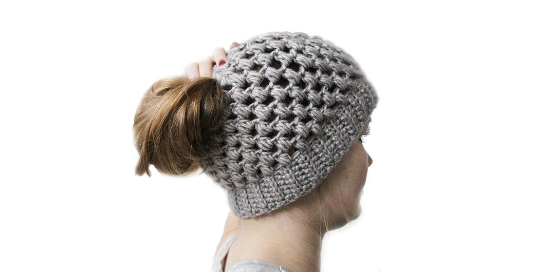 Bun hats are amazingly popular right now. Here you can find a free ...
