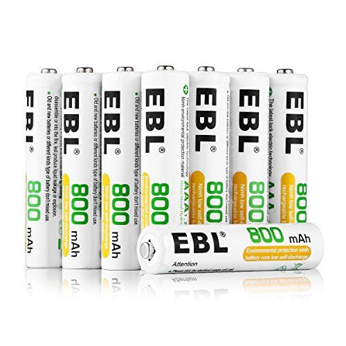 Ebl Aaa Rechargeable Batteries 12 Pack 800mah Battery Storage Included