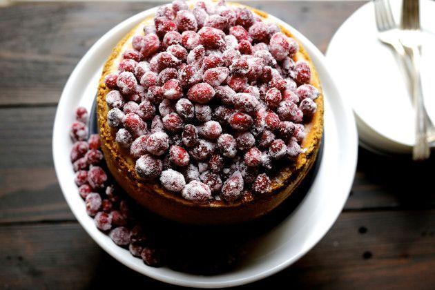 Cranberry Eggnog Cheesecake #eggnogcheesecake Cranberry Eggnog Cheesecake #eggnogcheesecake