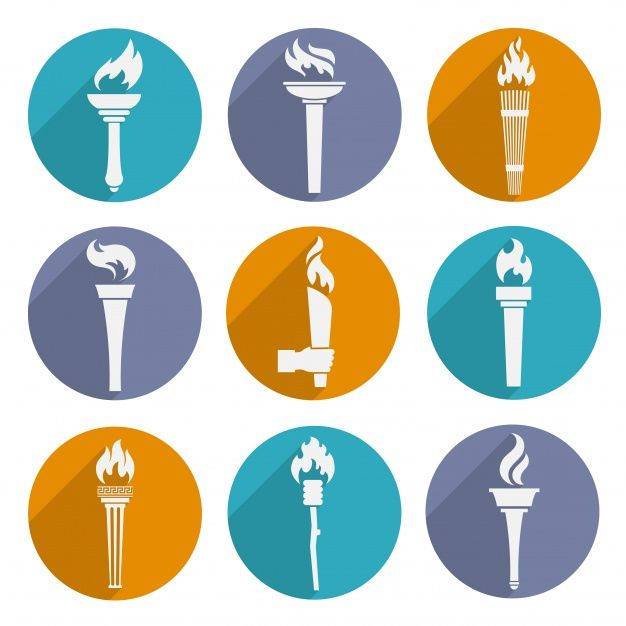 Olympic torch icons Free Vector | Free Vector #Freepik #freevector #design #icon #sport #fitness