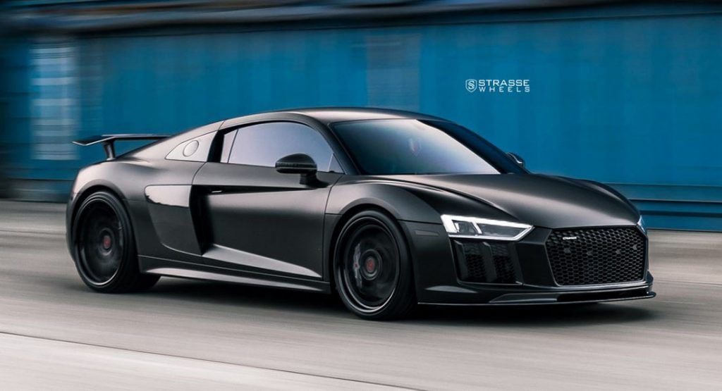 All Black Audi R8 V10 Plus Looks Like A Four Wheel Stealth Er