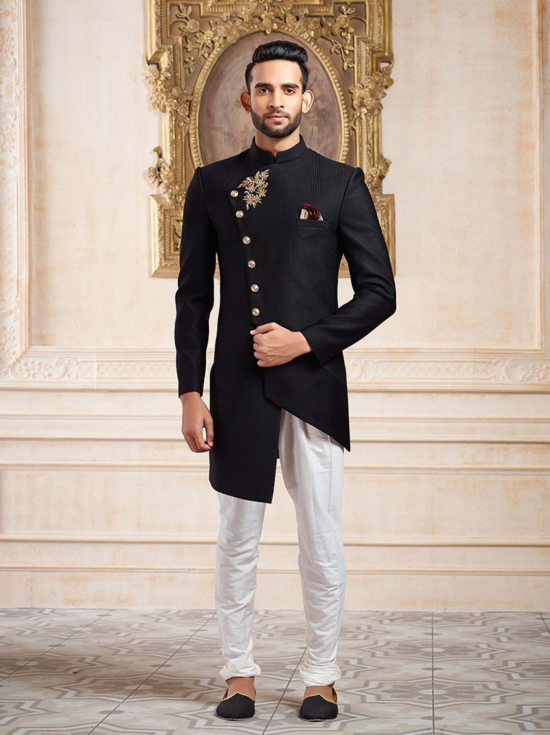 b6b12b2e6b Shop Black terry rayon party wear indo western online from G3fashion India.  Brand - G3, Product code - G3-MIW5754, Price - 11899, Color - Black, ...