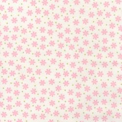 RK flannel dotted bloom pink