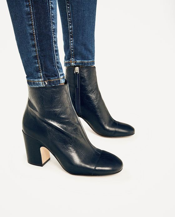 162a94615b6 Image 6 of LEATHER HIGH HEEL ANKLE BOOTS from Zara | Shoes ...