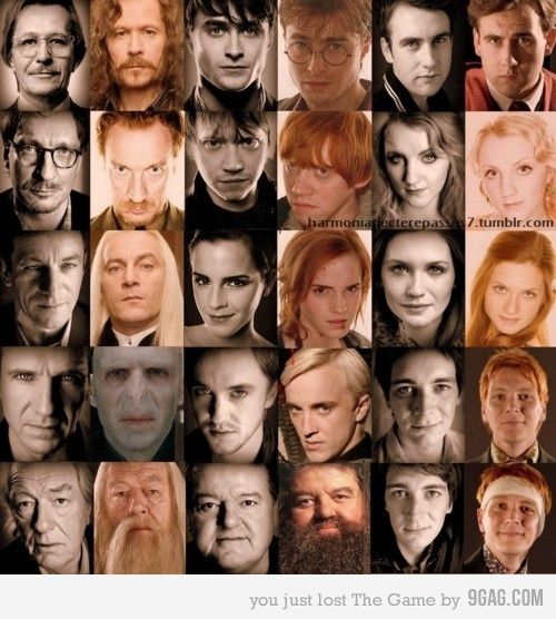 Harry Potter cast IRL & in character