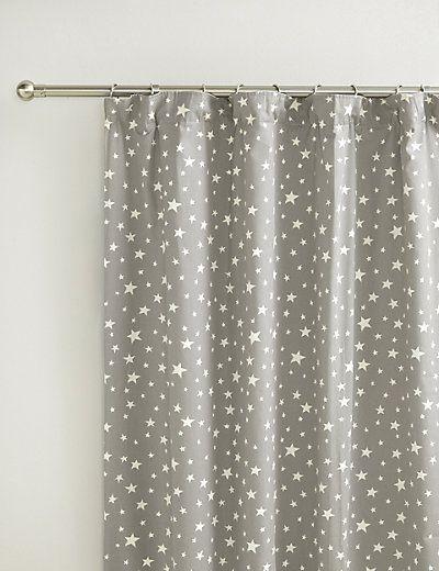 Star Print Pencil Pleat Curtains M S Nursery Curtains Girl Boys Room Curtains Nursery Curtains