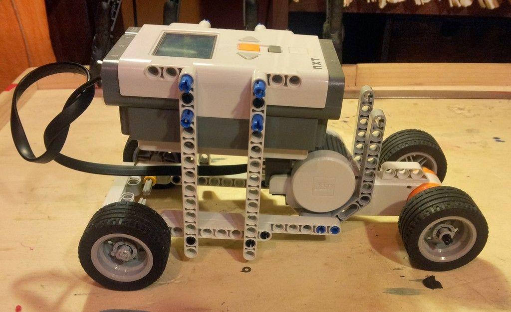 One Motor Car Lego Nxt Robot Nxt Mindstorm Lego Robotics Lego
