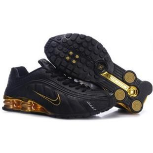 Nike Shox R4 Black And Gold