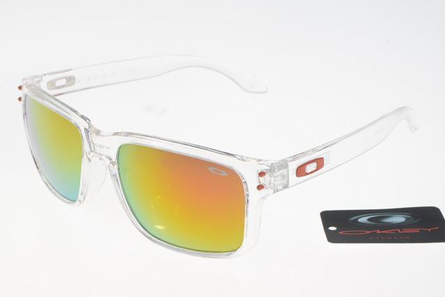 orange oakleys  Oakley Holbrook Sunglasses Transparent Frame Orange/Yellow Lens ...