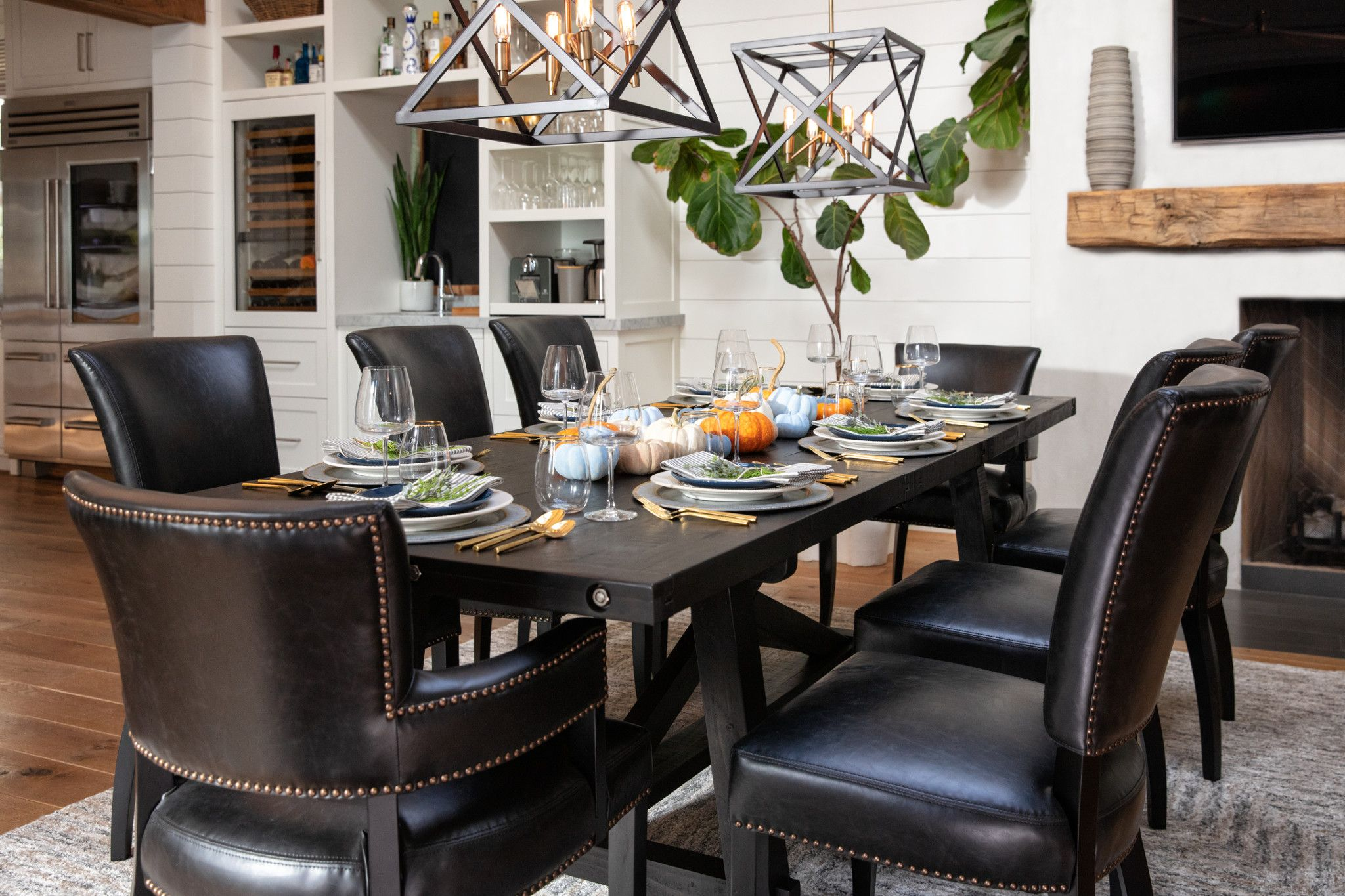 A Thanksgiving dining set up fit for turkey lovers  Rustic Modern
