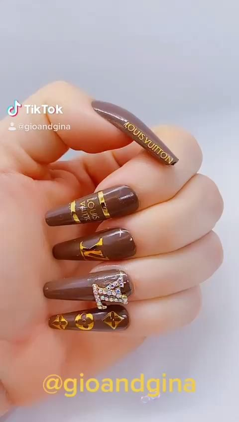 Trending Nail Stickers LV Nail Decals For Nail Pol