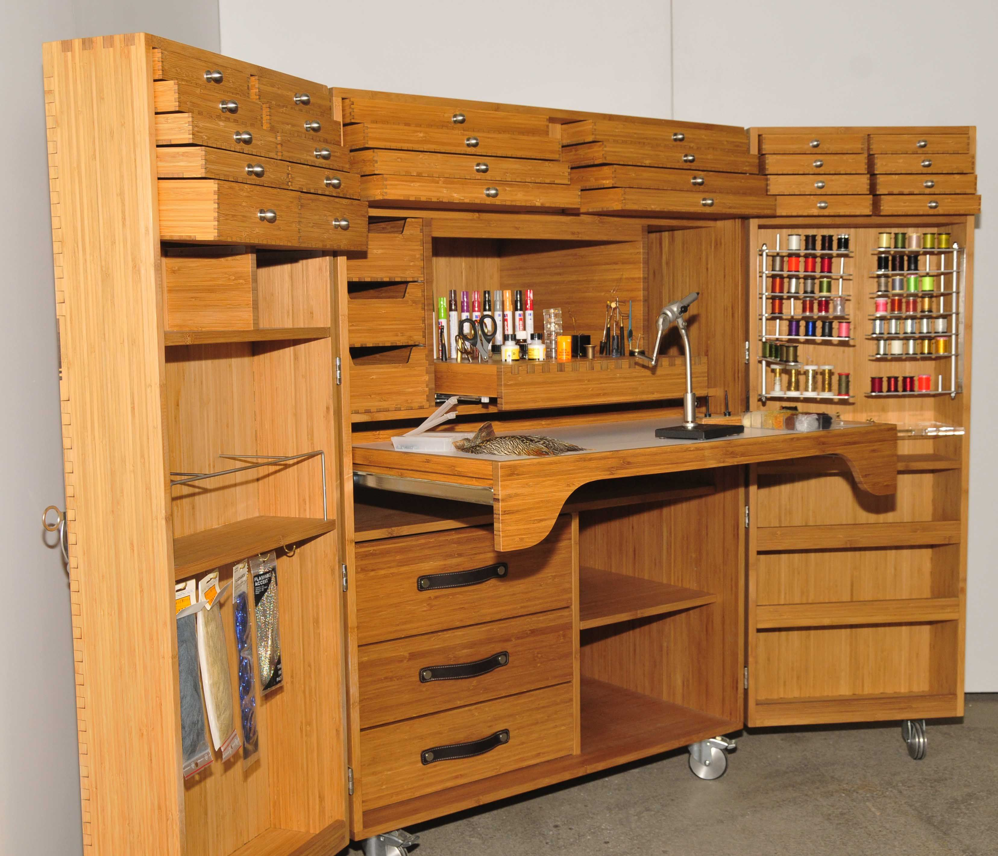 Image Result For Best Woodshop Large Material Storage: Fly Tying Desk, Fly Tying