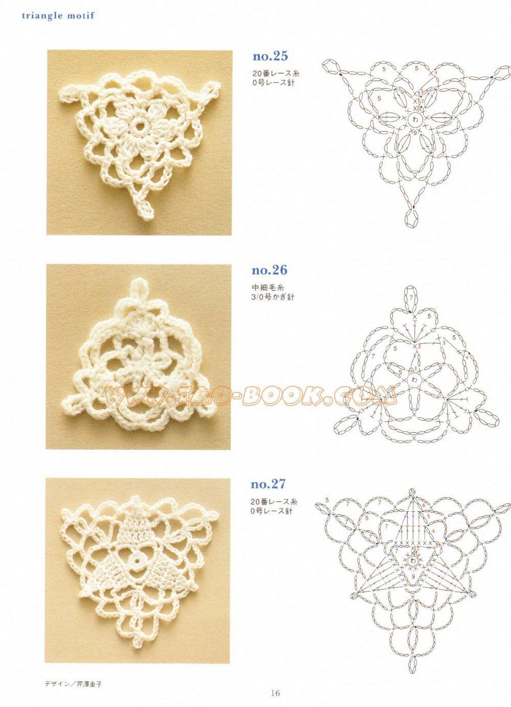 crochet triángulos | aros crochet | Pinterest | Croché, Ganchillo y ...