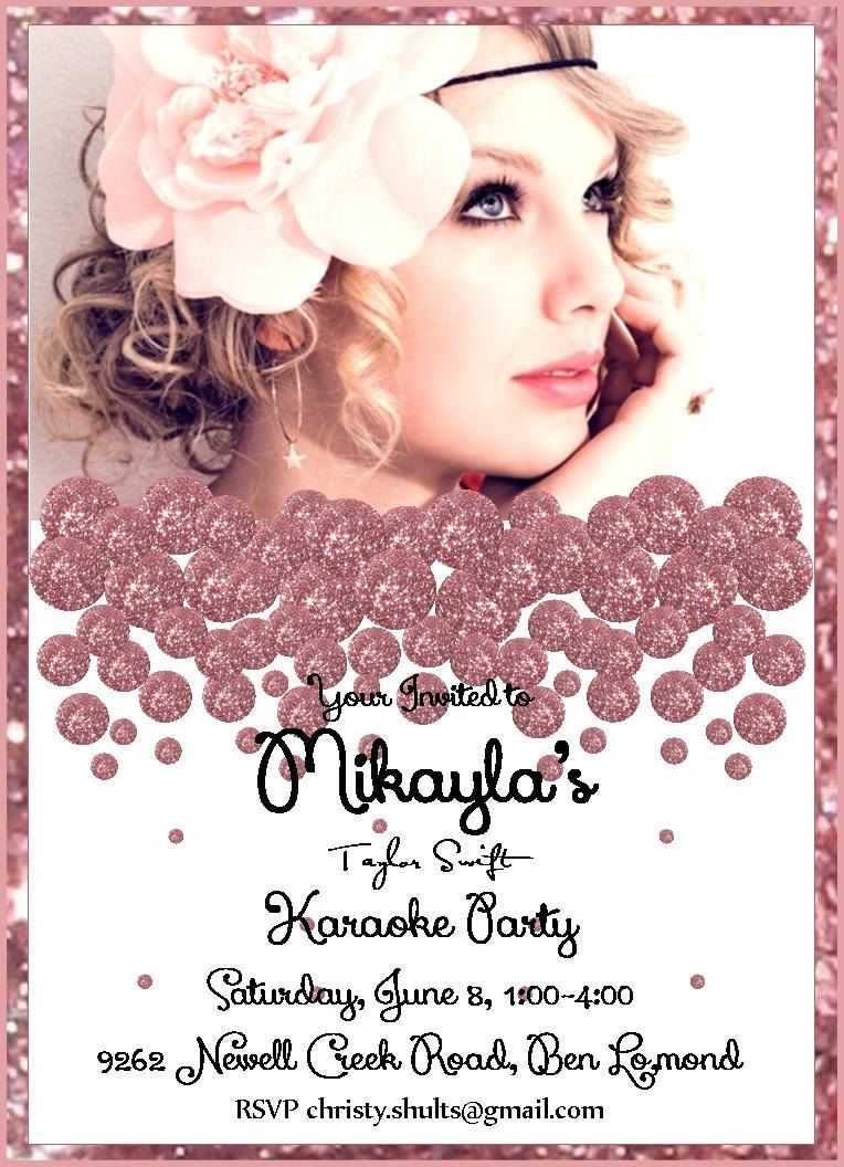 Taylor Swift Invitations Invitations. Pinning this because I want ...