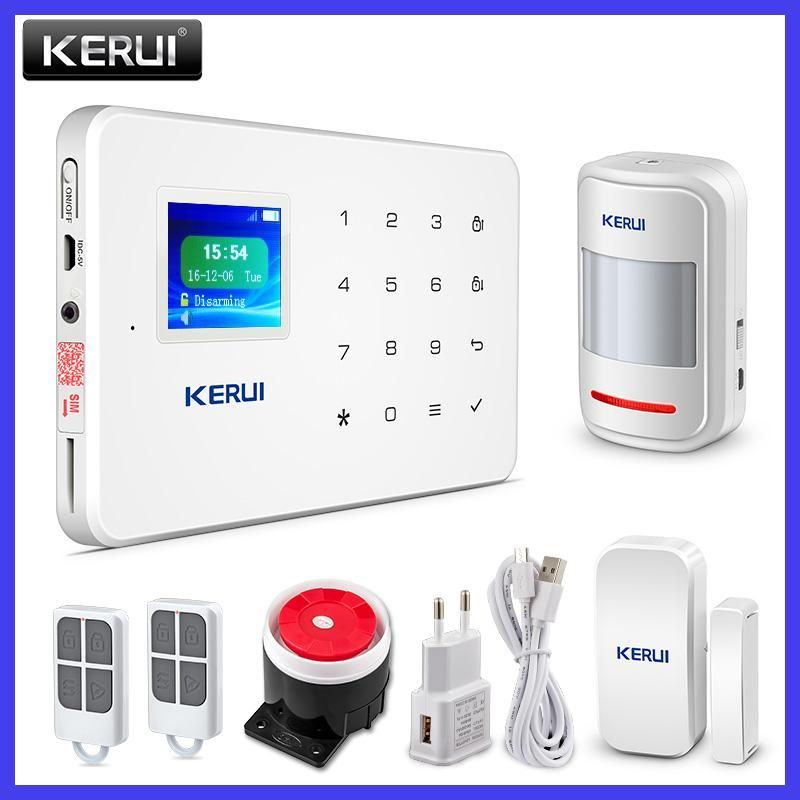 Kerui G18 Tft Touch Gsm Alarm Wireless Ios Android App Control Home Burglar Security Protect Wireless Home Security Gsm Alarm System Home Security Alarm System
