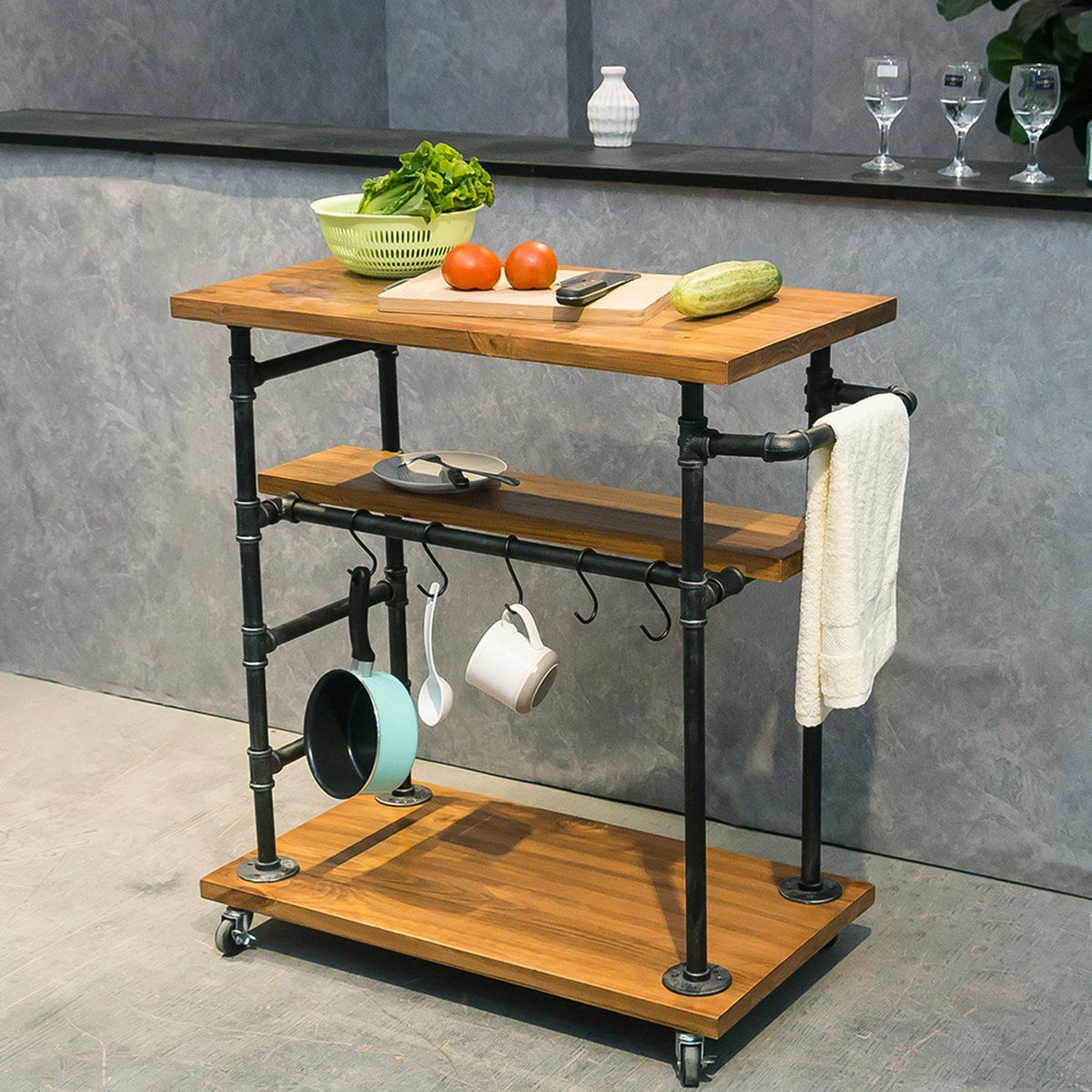 industrial portable kitchen coffee carts for the home wine bar beverage coffee cart portable on kitchen island ideas kitchen bar carts id=92611