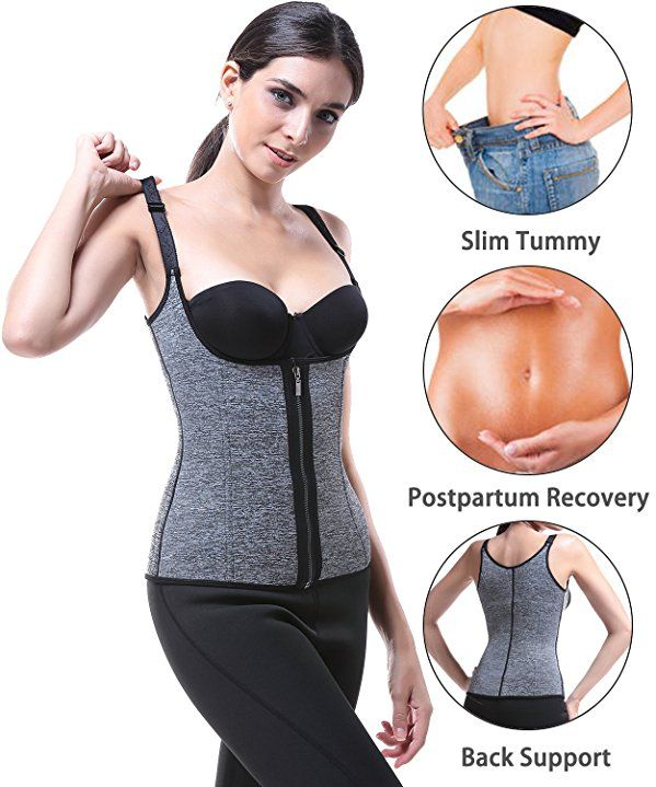 b794885df1f9aa Funnygirl Women's Waist Trainer Cincher Corset Tummy Control Shapewear  Adjustable Straps Body Slimmer at Amazon Women's Clothing store: