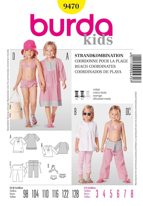Burda Kids Pattern B9470 | Burda Style Beach Coordinates | Fashion ...
