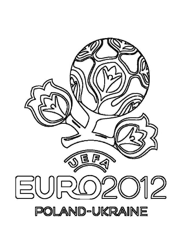 Coloring Page Soccer Euro 2012