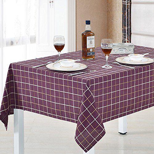 Garden Home Tablecloth/Cotton Tablecloth/grid Table Cloth/ Table Cloth/covering  Cloth/ Round Table A