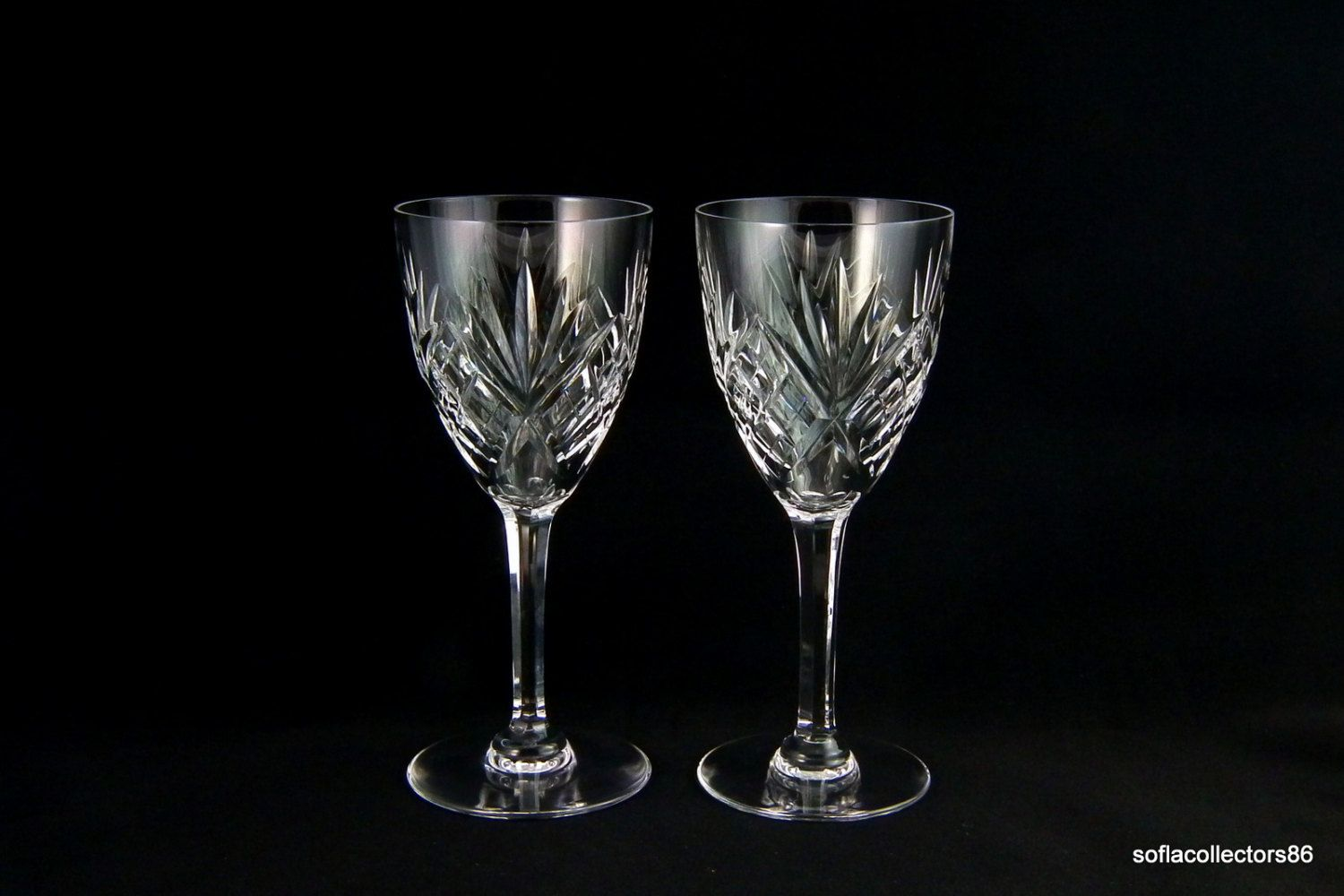 st louis crystal continental size chantilly pattern wine goblets wine glasses french crystal