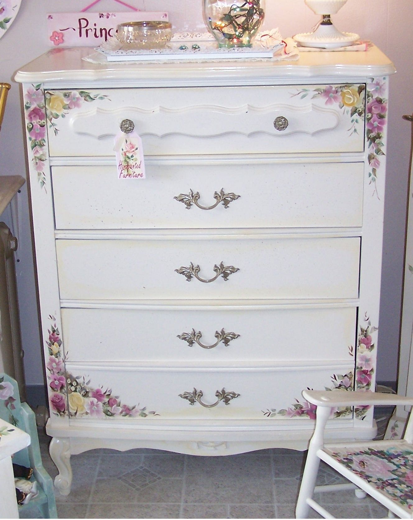 pink shabby chic furniture. Vintage Custom Painted Shabby Chic Dresser Chest Of Drawers Bedroom Furniture #shabbychic #paintedfurniture # Pink K