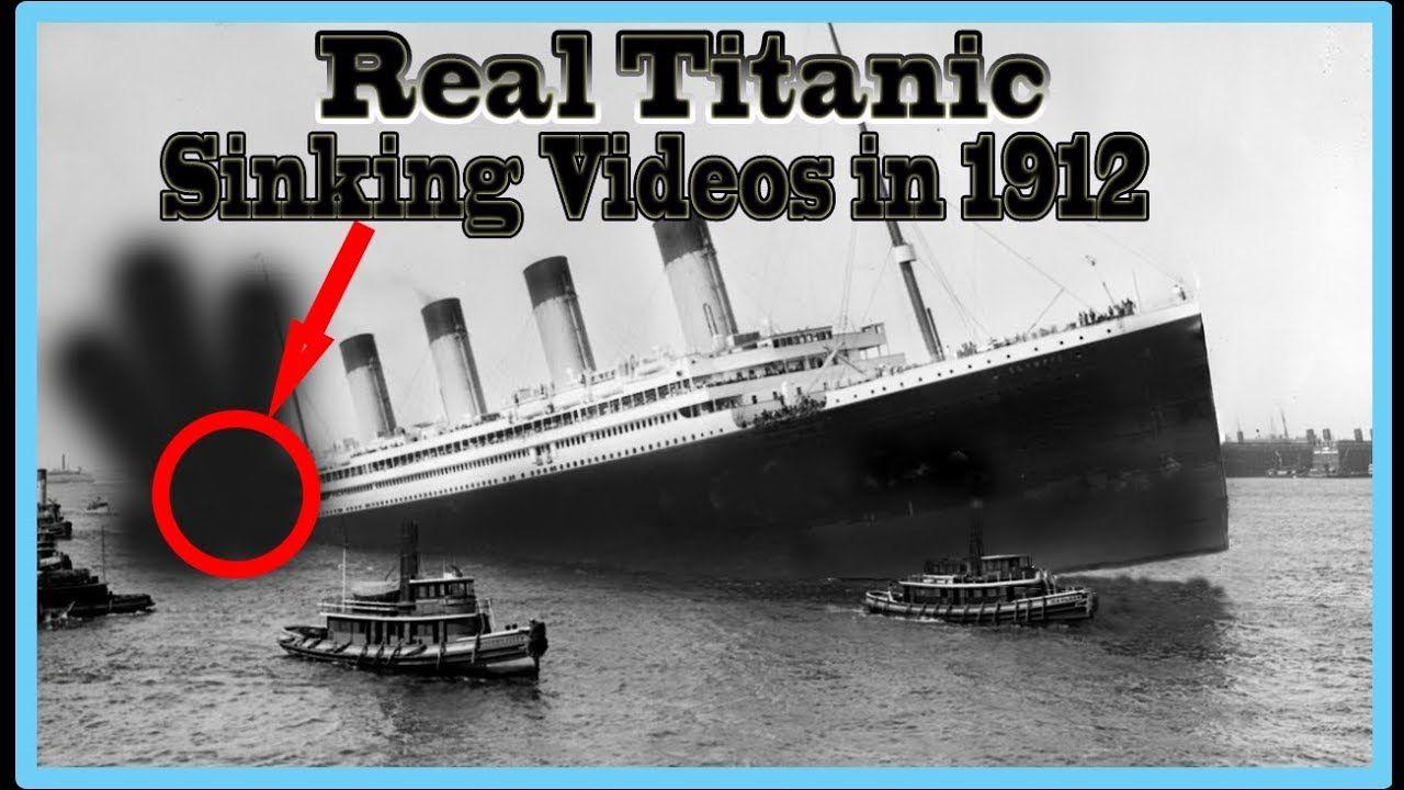 Real Titanic Ship Underwater Sinking Rare Video In 1912 Youtube Titanic Ship Real Titanic Titanic Sinking