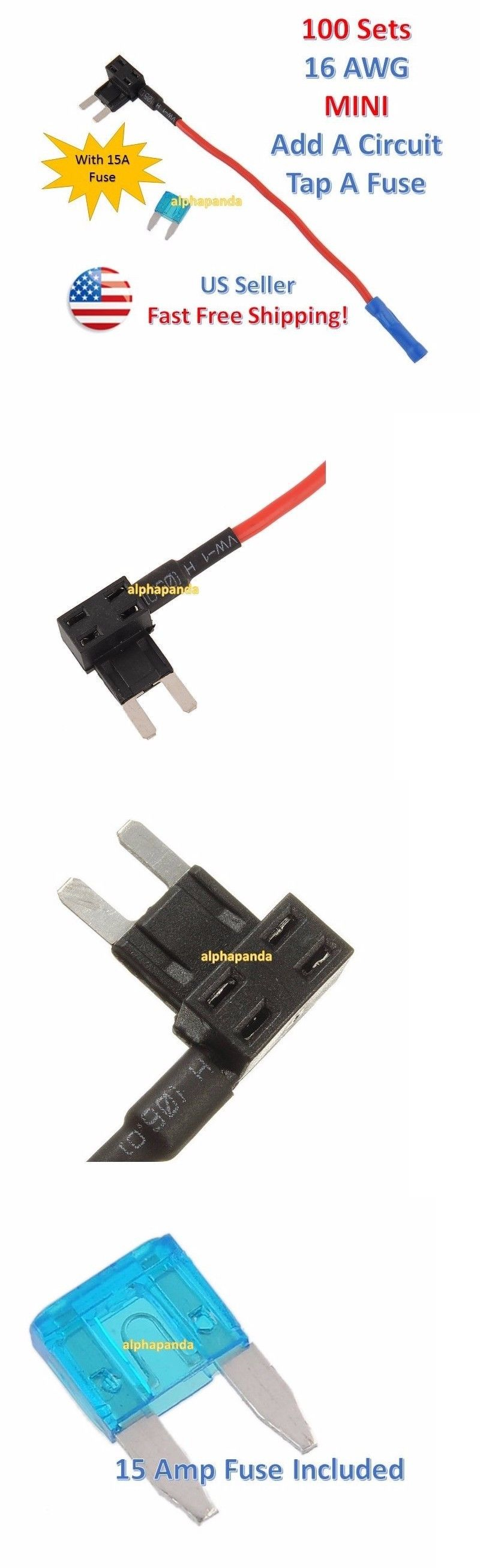 Fantastic Bulldogsecurity.com Wiring Small Dragonfire Pickups Wiring Diagram Flat Bulldog Vehicle 5 Way Pickup Switch Old Wiring Gitar BlueDiy Solar Panel System Wiring Diagram Fuses And Fuse Holders: 100X 16 Awg Gauge Car Auto Truck Add A ..