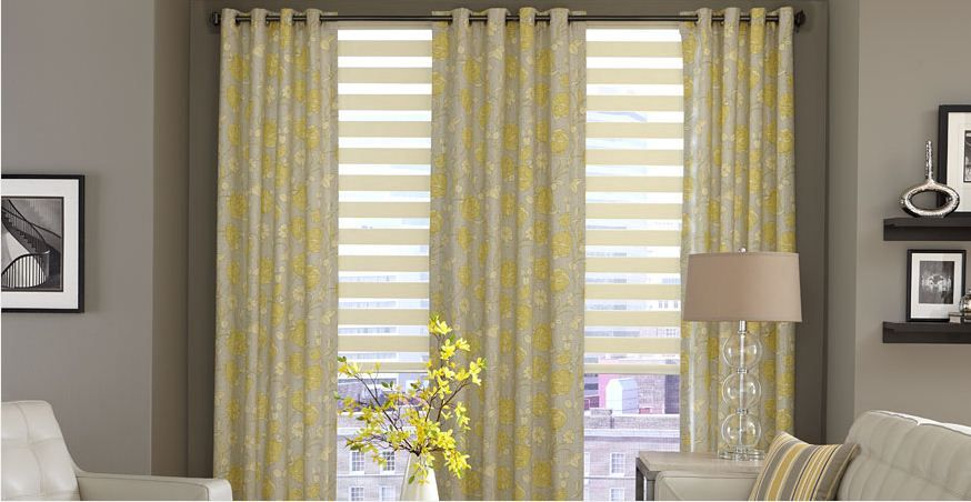 Living Room Window Blinds Ideas Source 3 Day Horizontal Sheer Shades Kitchens And Cabinets Pinterest