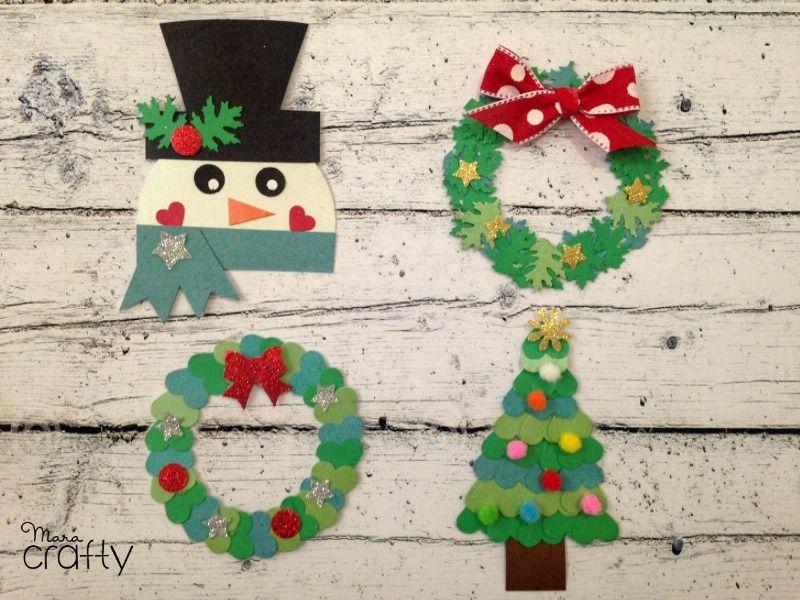 Decoraciones navide as de papel con perforadoras manualidades pinterest decoraci n - Decoraciones navidenas manualidades ...