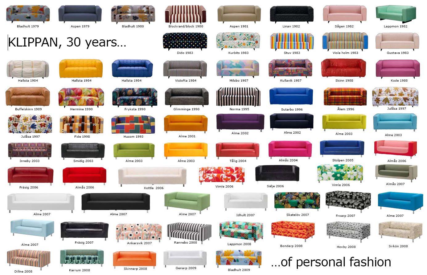 Ikea Klippan through 30 years
