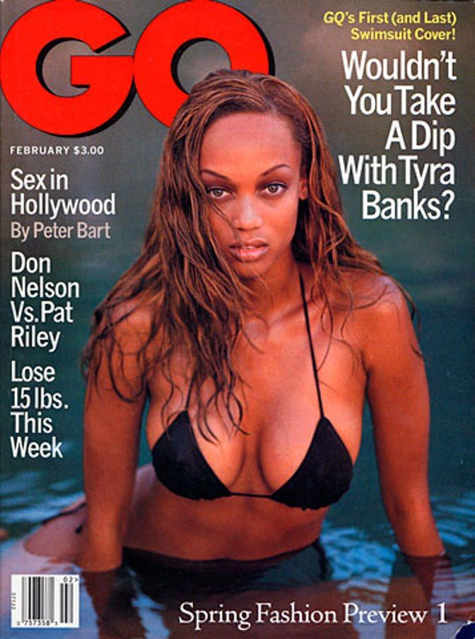 Tyra Banks on the cover of GQ, 1996. Still 'Fierce' Girl. . ♛~✿Ophelia Ryan  ✿~♛