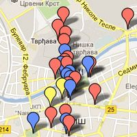 mapa niša Mapa Niša sa lokacijama | NisCafe preporuka | Pinterest | Celine mapa niša