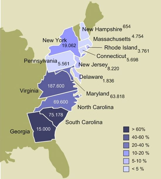 13 Colonies Map With Cities slavery in the colonial united states