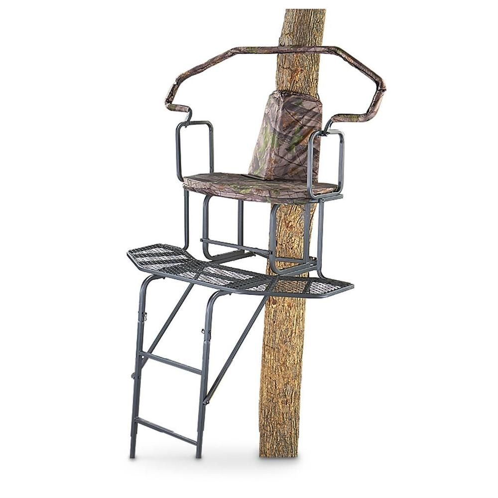 Guide Gear 2 Man 16 Wrap A Round Ladder Tree Stand With Images Ladder Tree Stands Ladder Stands Tree Stand Hunting