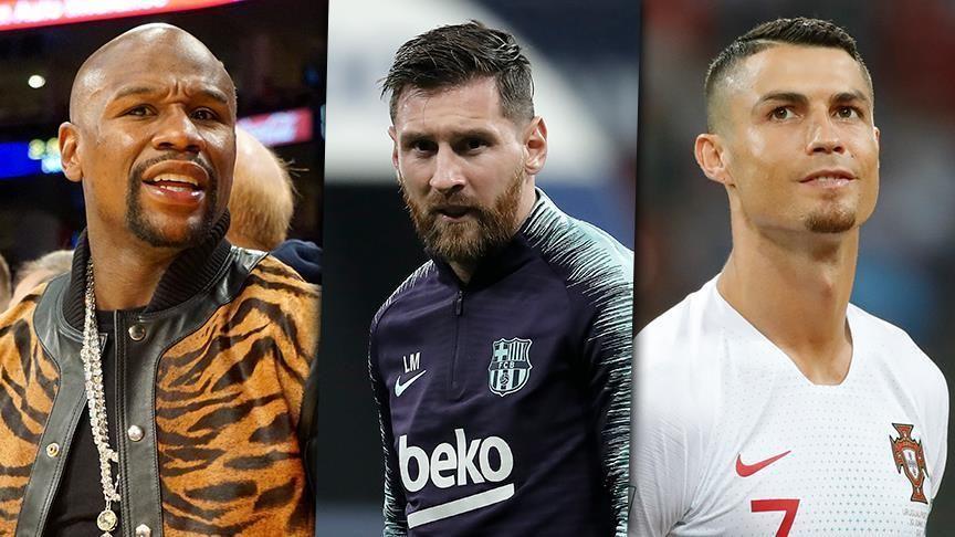 Footballers Lionel Messi, Cristiano Ronaldo follow Floyd