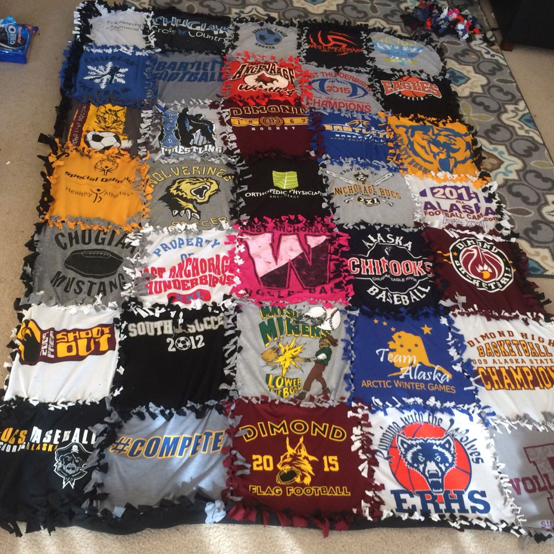 No Sew T-Shirt Blanket