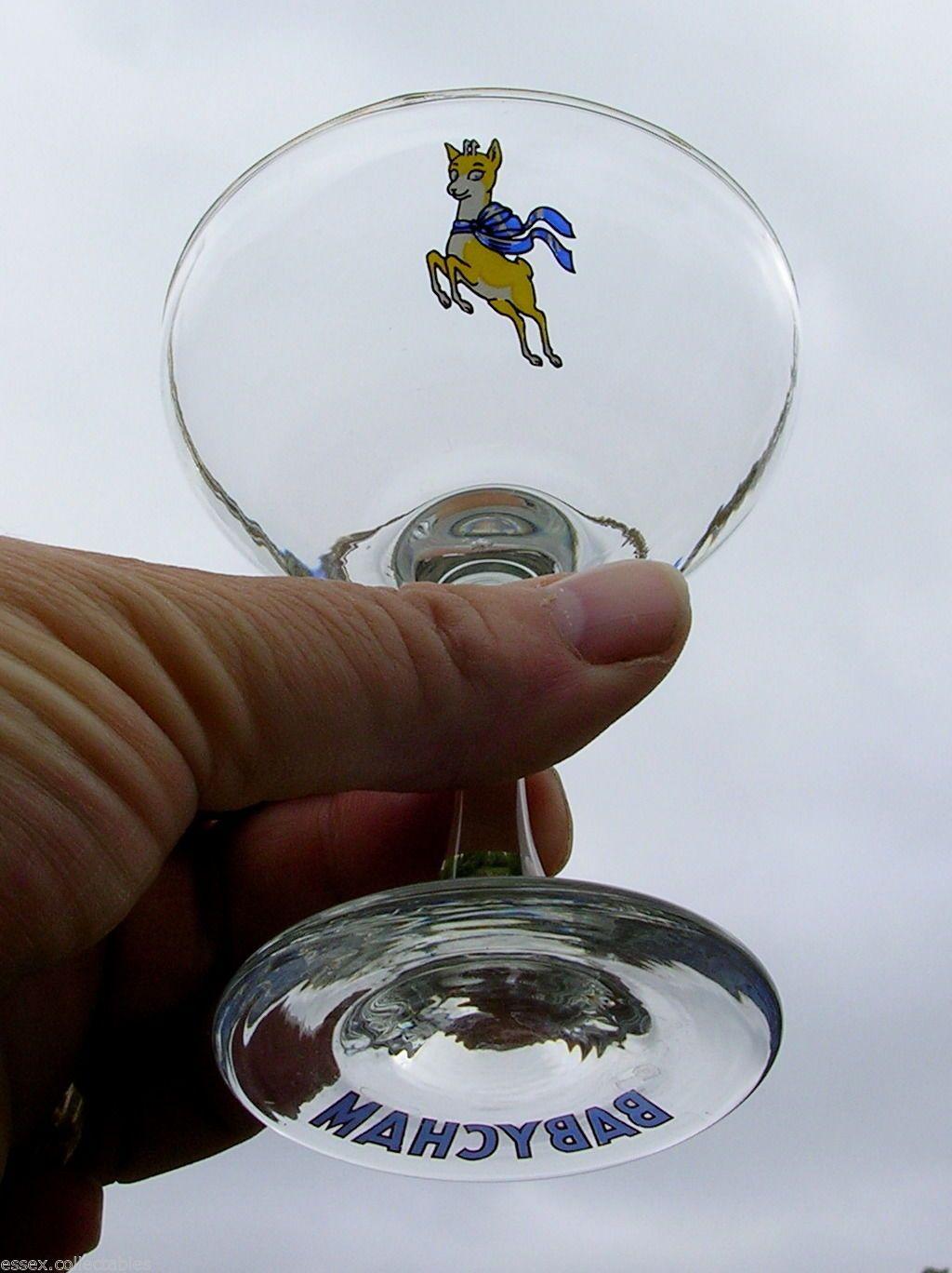 SET 4 Vintage BABYCHAM Glasses - Yellow Prancing Fawn | eBay