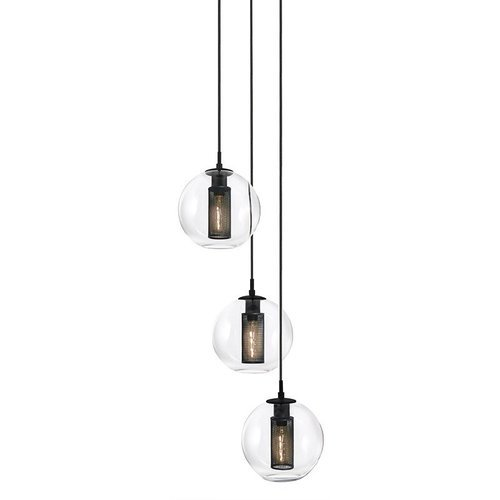 Sonneman Tribeca 3-Light 10 Inch Pendant - Textured Black ...
