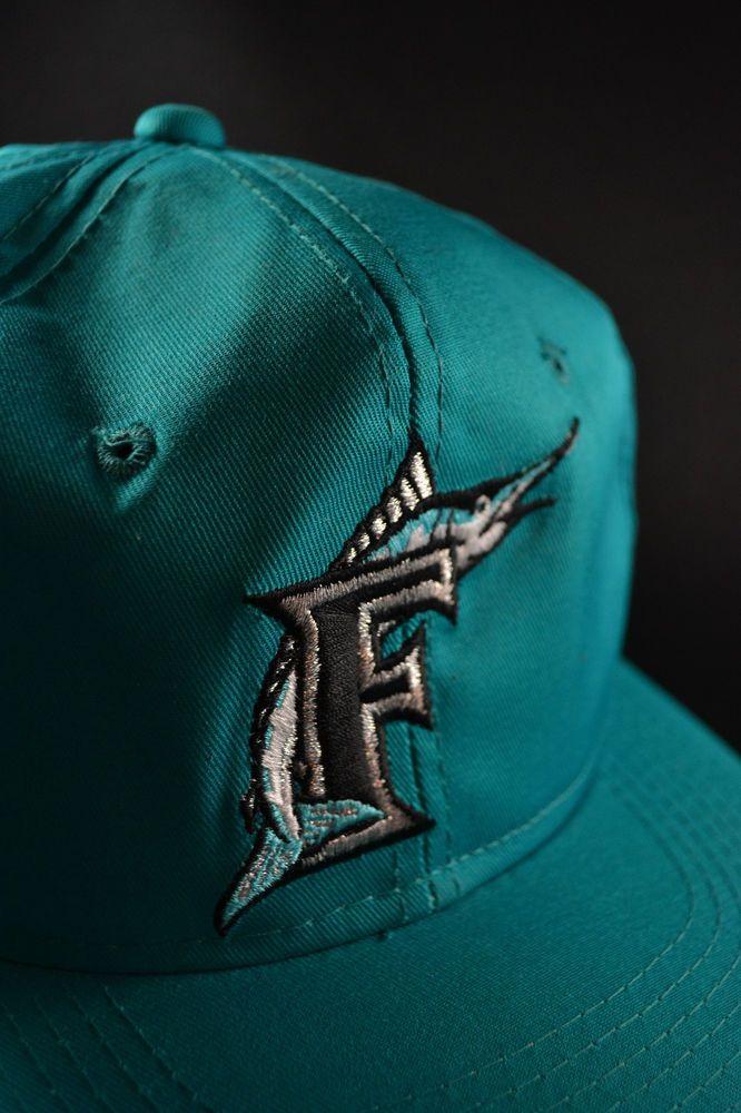 Florida Marlins Miami Teal Snapback Hat Cap Vintage 90s  a512026946a8